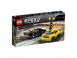 LEGO® 75893 2018 Dodge Challenger SRT Demon and 1970 Dodge Charger R/T